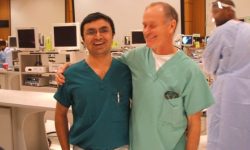 with Dr.Stephen Snyder ( Pioneer of many Shoulder Arthrosocopy technique) , AANA course – 2009, Chicago, USA.
